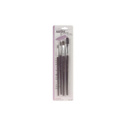 Red Sable & Camel Hair Artist Brush Set-4/Pkg