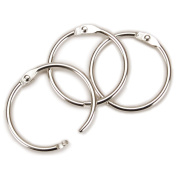 Clear Scraps Chrome Book Ring, 100Pk, 3.8cm