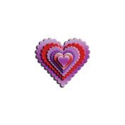 SPELLBINDERS Nestabilities Dies-Classic Scallop Heart (6 Dies