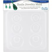 Resin Jewellery Reusable Plastic Mould, 15cm - 1.3cm x 18cm , Earrings, 3 Pairs