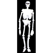 Life-Size Plastic Glow Skeleton Halloween Accessory
