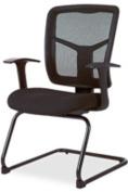 "Guest Chair, Mesh Fabric, 27""x27-1/2""x41"", Black. ."