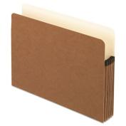 "Anti Mold and Mildew File Pocket, Letter, 5 1/4"" Exp, Red Fiber, 10/BX"