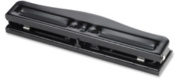 3-Hole Punch,Adjustable,9/32 Hole Size,8-10 Sht Cap.,Black. 24 EA/CT.
