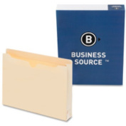 Business Source BSN65799 Filing Jacket- Letter- 2in. Expansion- Two-Ply- Manila