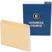 Business Source BSN65802 File Pocket- Straight Cut Tab- 1-.50in. Exp.- Legal- Manila