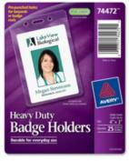 "Badge Holders,Heavy-Duty, 3""x4"", 25/PK, Vertical/Clear. ."