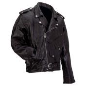 Men's Black Buffalo Leather Motorcycle Jacket