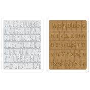 Sizzix 657948 Sizzix Texture Fades Embossing Folders By Tim Holtz 2-Pkg-Subway and Stencil