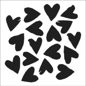 """Crafter's Workshop Templates 15cm X6""""-Spilled Hearts"""