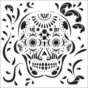 "Crafter's Workshop Templates 15cm X6""-Mexican Skull"