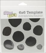 "Crafter's Workshop Templates 15cm X6""-Boulders"