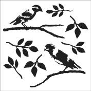"Crafter's Workshop Templates 30cm X12""-Love Birds"