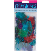 Feathers 3 Grammes-Guinea Bright Assorted