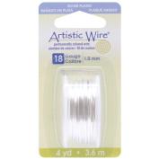 Artistic Wire 18-Gauge Tarnish Resistance Silver Wire, 4-Yard