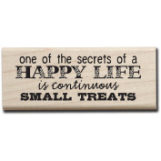 Mounted Rubber Stamp 6.4cm x 8.9cm , Continuous Small Treats