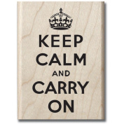 "Mounted Rubber Stamp 6.4cm X3.25""-Keep Calm"