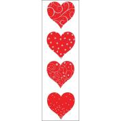 Mrs. Grossman's Stickers-Red & Silver Heart