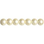 Jewellery Basics Pearl Beads 8mm 90/Pkg-Ecru
