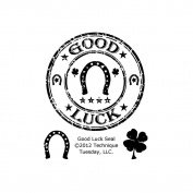 Technique Tuesday TT-A-GOODS Technique Tuesday Clear Stamps 2 in. x 2.5 in.-Good Luck Seal