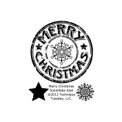 Technique Tuesday Clear Stamps 5.1cm x 6.4cm -Merry Christmas Snowflake Seal