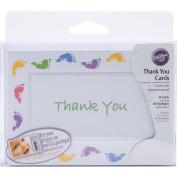 Wilton Thank You Card Kit, 20/pkg, Baby Feet