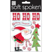 Soft Spoken Themed Embellishments-Ho Ho Ho