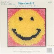 "Wonderart Latch Hook Kit 20cm X8""-Smile"