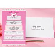 Wilton Bridal Shower Invitation Kit, Pink & White Cake 12 ct. 1008-247