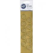 Wilton 10082335 Heart Seals 50-Pkg-Gold