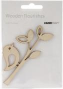 Wood Flourishes-Bird Twig