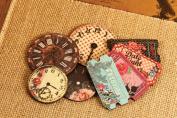 Rosarian Wood Clocks & Tickets 3.8cm To 5.1cm 8/Pkg