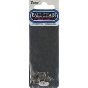 Ball Chain Metal Dangler Beads 4/Pkg-Shapes