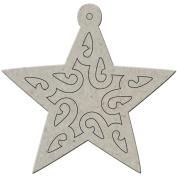Die-Cut Grey Chipboard Album 14cm x 14cm -Star Tag