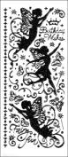 Hot Off The Press DAZ-1923 Dazzles Stickers -Fairies Black Glitter