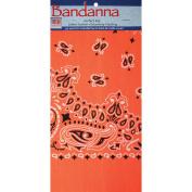 Neon Bandannas 60cm x 60cm -Orange Paisley