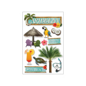 Paper House 3D Stickers-Caribbean