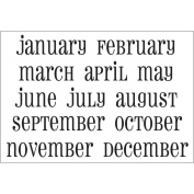 SRM Calendar Months Large Stickers-Snappy