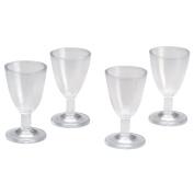 Timeless Miniatures-Wine Glasses 4/Pkg