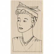 Mounted Red Rubber Stamp-Lucy 6.4cm X11cm