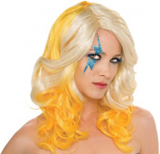 Costumes For All Occasions RU51552 Lady Gaga Blonde-Yellow Two Tone Wig Adult