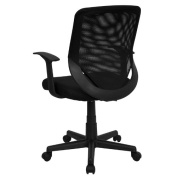 Flash Furniture LF-W-95A-BK-GG Black Mesh Office Chair with Mesh Back and Mesh Fabric Seat