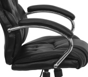 Flash Furniture GO-908A-BK-GG Transitional Style Black Leather Executive Office Chair
