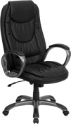 Flash Furniture CH-CX0068H04-GG High Back Black Leather Executive Swivel Office Chair