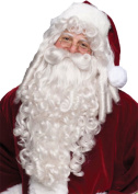 Santa Super Deluxe Adult Halloween Wig And Beard