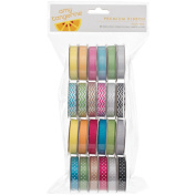 American Crafts Amy Tangerine Premium Ribbon Value Pack, 24/pkg