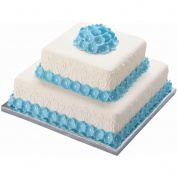 Silver Edge Cake Bases 36cm X36cm 2/Pkg-1.3cm Thick