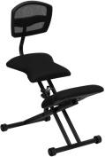 Flash Furniture WL-3440-GG Black Ergonomic Kneeling Chair with Mesh Back