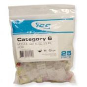 Icc ICC-CAT6JKPK-IV Ic107L6Civ - 25Pk Cat6 Jack - Ivory