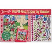 Melissa & Doug LCI4299 Peel And Press Sticker By Number Flower Garden Fairy